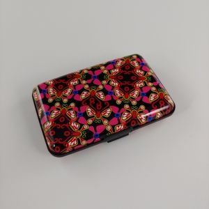 None Bags - Aluminum Butterfly Wallet, Rfid - Red and black